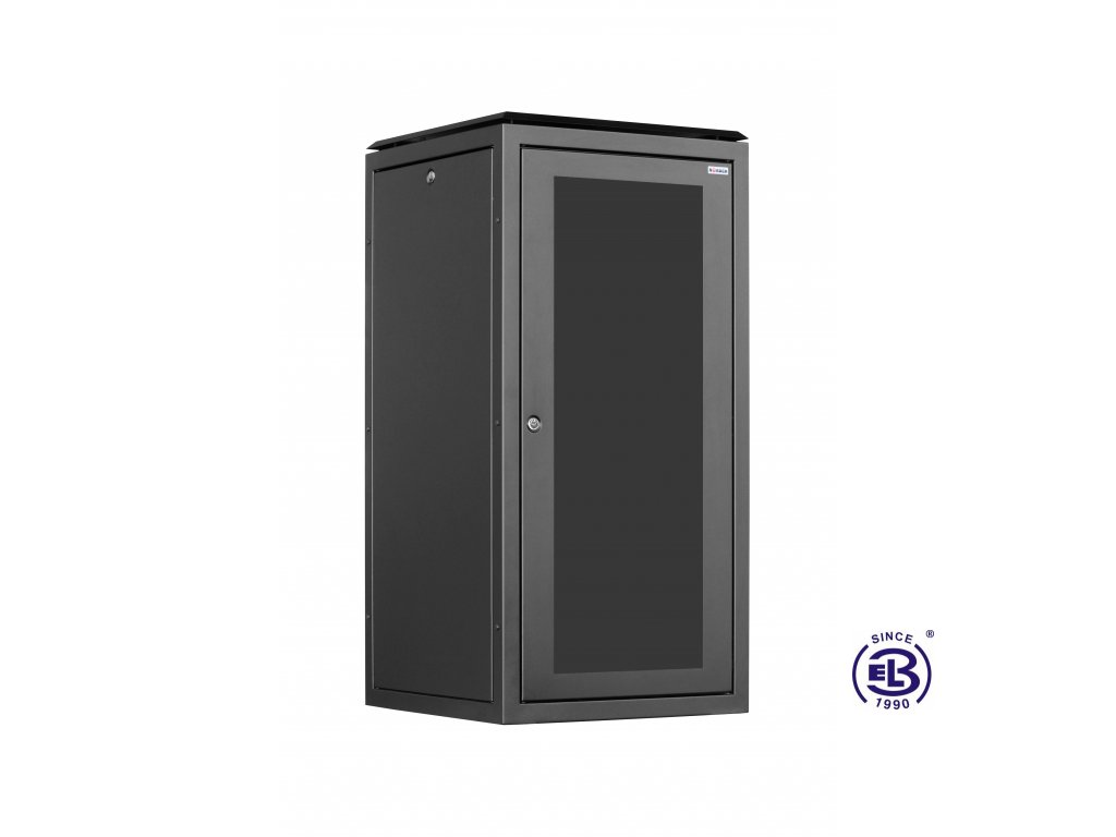 Rozvaděč stojanový SENSA, 45U, 600x600 BK, skleněné dveře