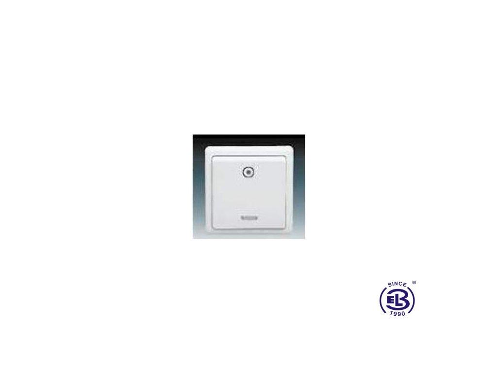 Ovládač zapínací s orientační doutnavkou Classic, jasně bílý, řazení 1/0So, 3553-93289B1 ABB