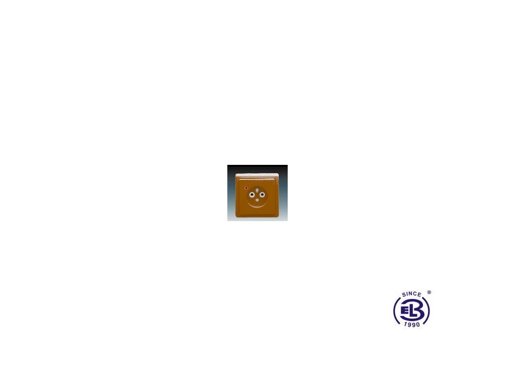 Zásuvka jednonásobná s ochranným kolíkem, s ochranou před přepětím Classic, hnědá, řazení 2P+PE, 5597-2389H3 ABB