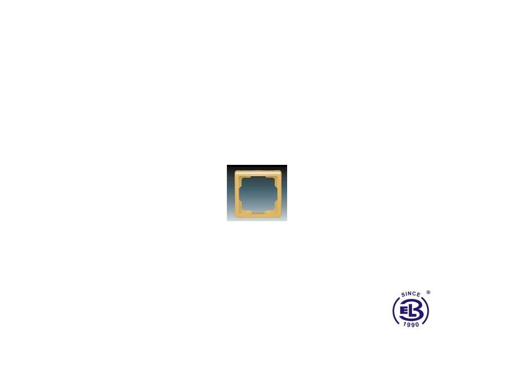 Rámeček pro elektroinstalační přístroje jednonásobný Classic, béžový, 3901C-B10D2 ABB