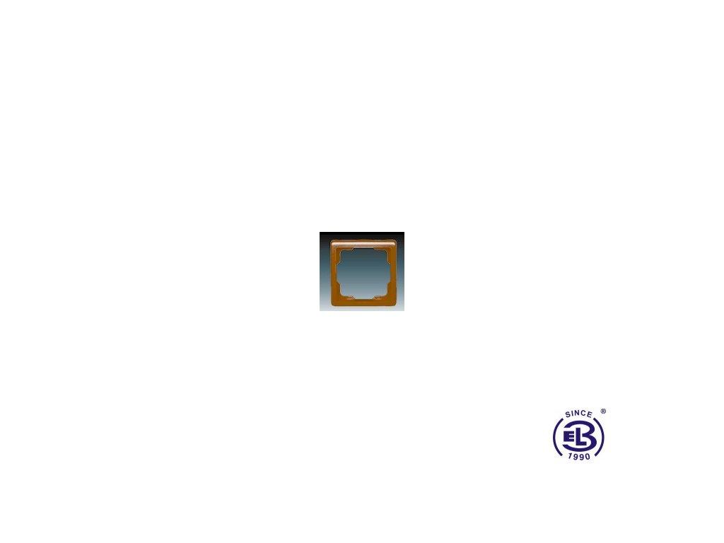 Rámeček pro elektroinstalační přístroje jednonásobný Classic, hnědý, 3901C-B10H3 ABB
