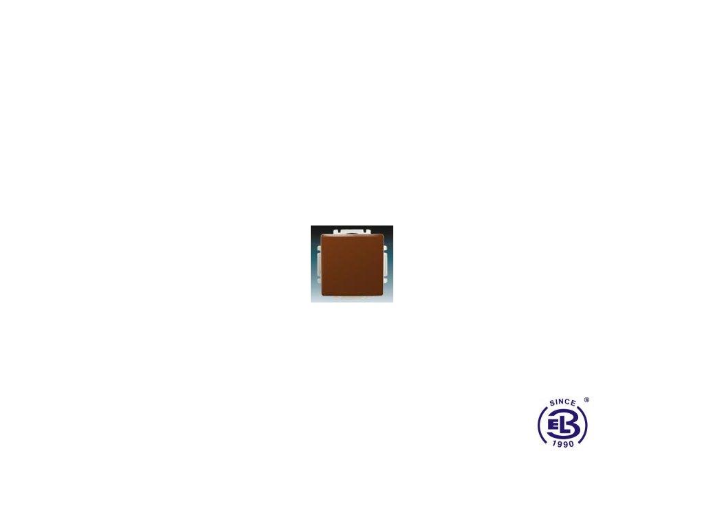 Přepínač střídavý s krytem Swing/Swing L, hnědý, řazení 6, 3557G-A06340H1 ABB