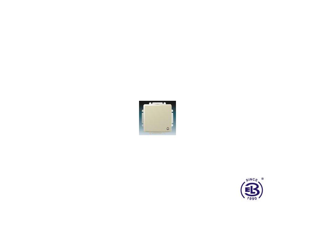 Ovládač zapínací s krytem se symbolem zvonku Swing/Swing L, krémový, řazení 1/0, 3557G-A80343C1 ABB
