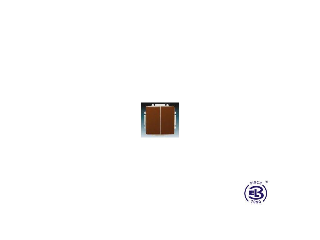 Přepínač sériový s krytem Swing/Swing L, hnědý, řazení 5, 3557G-A05340H1 ABB