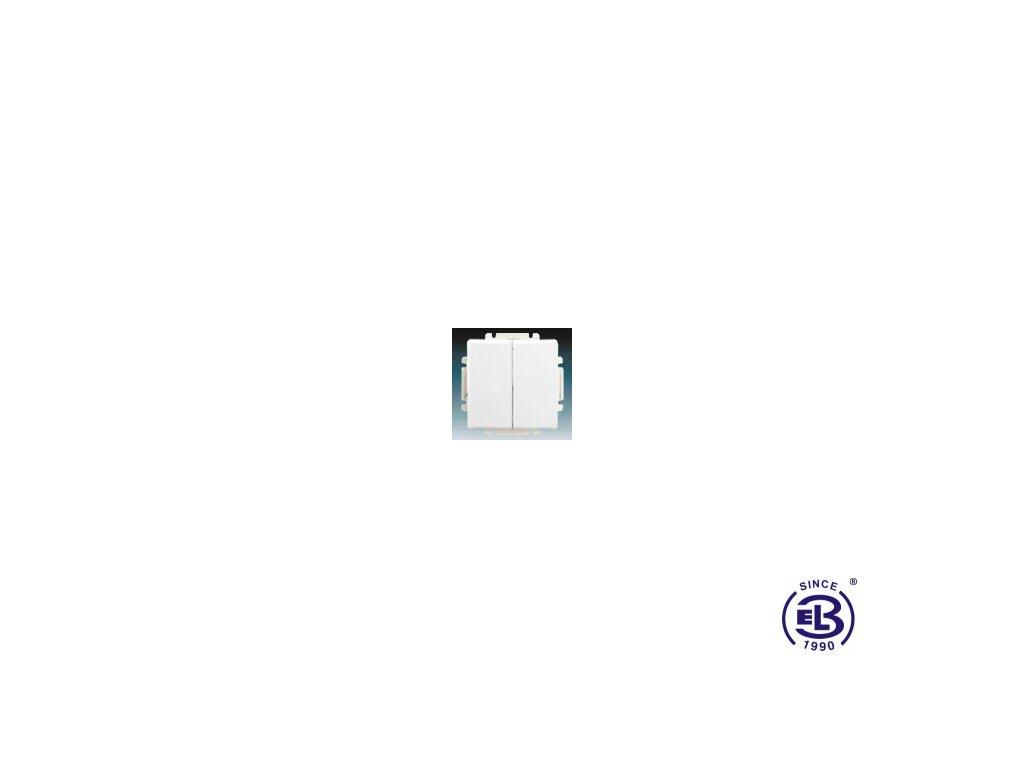 Přepínač střídavý dvojitý s krytem Swing/Swing L, jasně bílý, řazení 6+6 (6+1), 3557G-A52340B1 ABB
