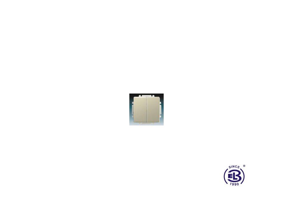Přepínač střídavý dvojitý s krytem Swing/Swing L, krémový, řazení 6+6 (6+1), 3557G-A52340C1 ABB