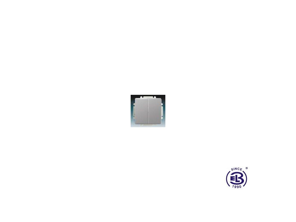 Přepínač střídavý dvojitý s krytem Swing/Swing L, světle šedý, řazení 6+6 (6+1), 3557G-A52340S1 ABB