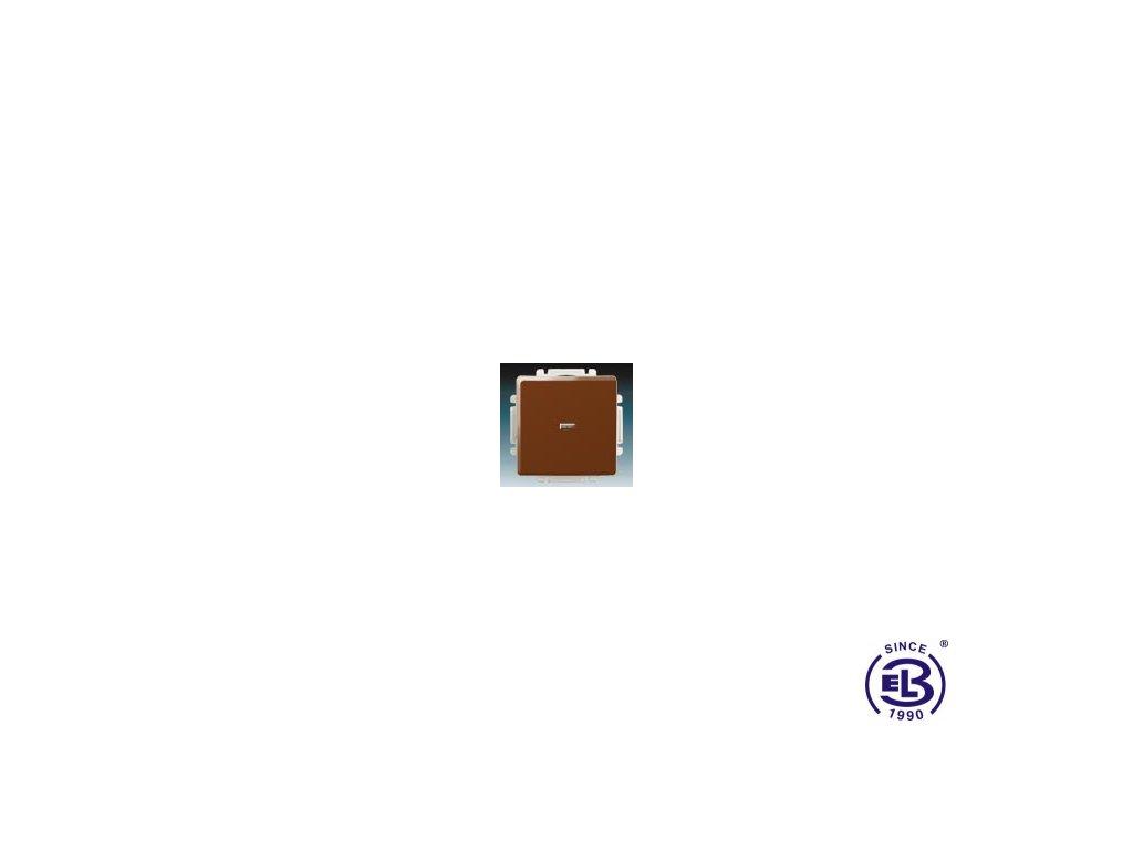Přepínač křížový s krytem, s průzorem Swing/Swing L, hnědý, řazení 6So, 3557G-A07341H1 ABB