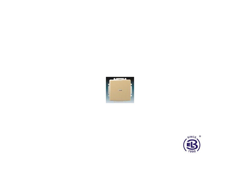 Ovládač zapínací s krytem, se svorkou N, s průzorem Swing/Swing L, béžový, řazení 10So, 1/0S, 3557G-A91342D1 ABB