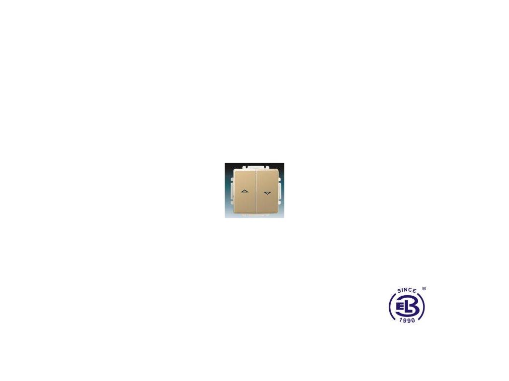 Ovládač žaluziový jednopólový s krytem Swing/Swing L, béžový, řazení 1/0+1/0 s blokováním, 3557G-A88340D1 ABB