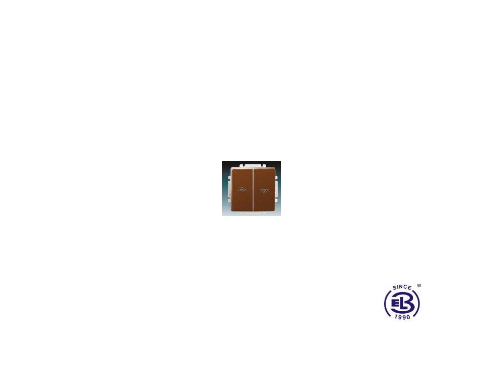 Ovládač žaluziový jednopólový s krytem Swing/Swing L, hnědý, řazení 1/0+1/0 s blokováním, 3557G-A88340H1 ABB