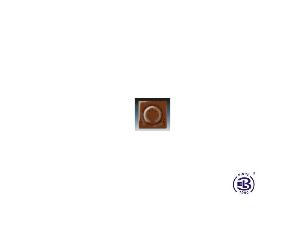 Termostat univerzální s otočným nastavením teploty Swing/Swing L, hnědý, 3292G-A10101H1 ABB