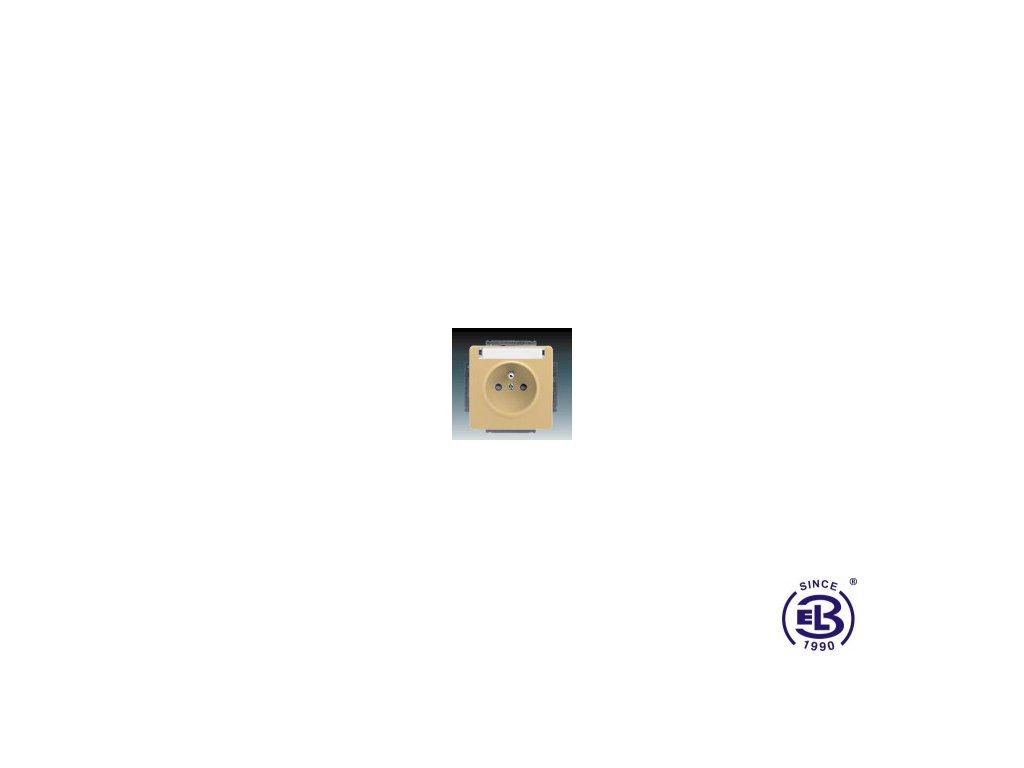 Zásuvka jednonásobná s ochranným kolíkem, s clonkami, s popisovým polem Swing/Swing L, béžová, řazení 2P+PE, 5518G-A02352D1 ABB