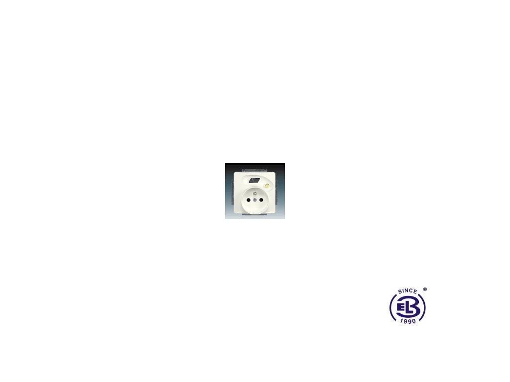 Zásuvka bezpečnostní FI-DOS s vestavěným proudovým chráničem, s clonkami, Swing/Swing L, krémová, řazení 2P+PE, 5526G-A02359C1 ABB