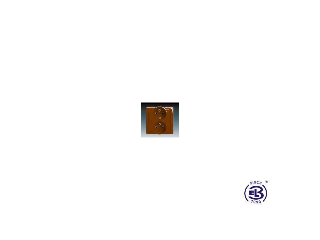 Zásuvka dvojnásobná polozapuštěná s ochrannými kolíky Swing/Swing L, hnědá, řazení 2x(2P+PE), 5512G-C02249H1 ABB