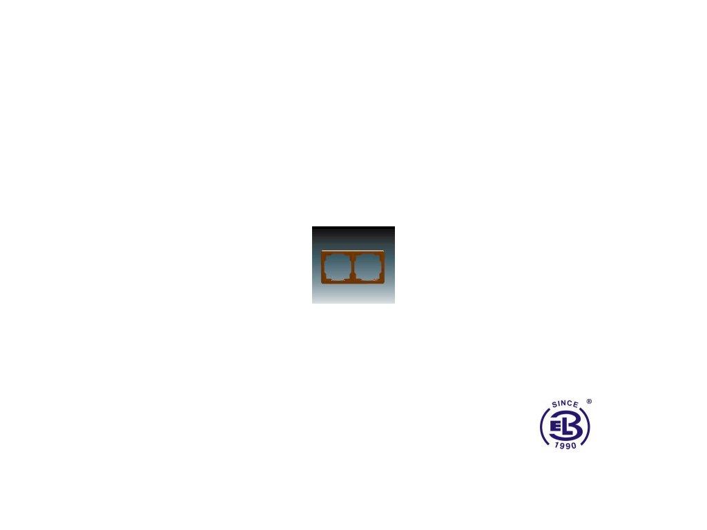 Rámeček pro elektroinstalační přístroje dvojnásobný Swing, hnědý, 3901G-A00020H1 ABB