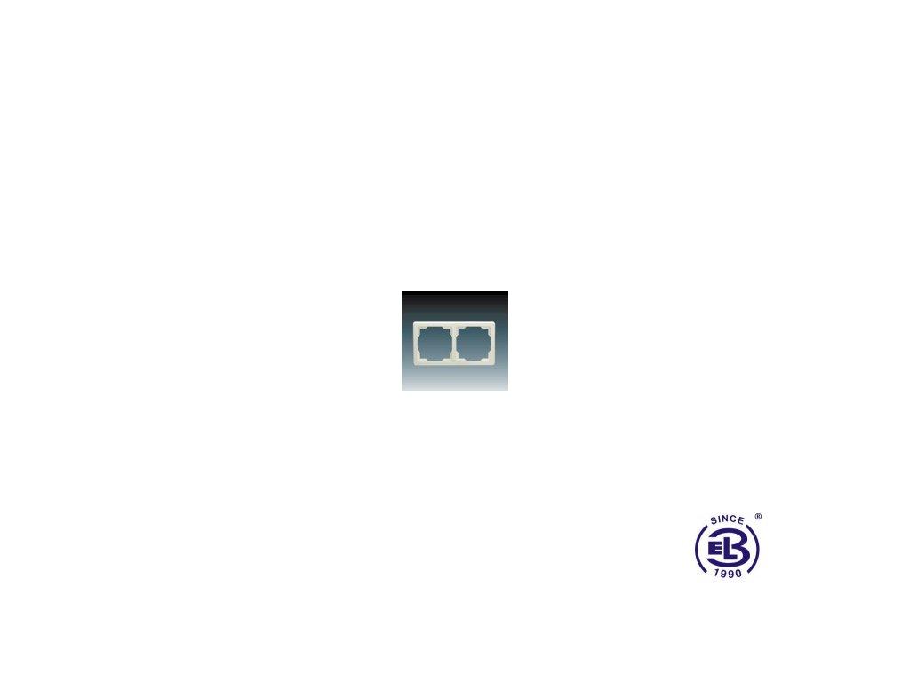 Rámeček pro elektroinstalační přístroje dvojnásobný Swing, krémový, 3901G-A00020C1 ABB