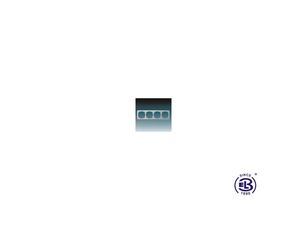 Rámeček pro elektroinstalační přístroje čtyřnásobný Swing, světle šedý, 3901G-A00040S1 ABB