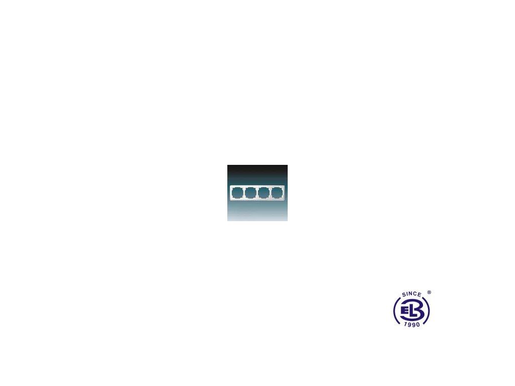 Rámeček pro elektroinstalační přístroje čtyřnásobný Swing, jasně bílý, 3901G-A00040B1 ABB