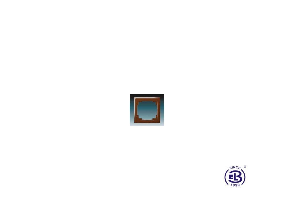 Rámeček pro elektroinstalační přístroje jednonásobný Swing L, hnědý, 3901J-A00010H1 ABB