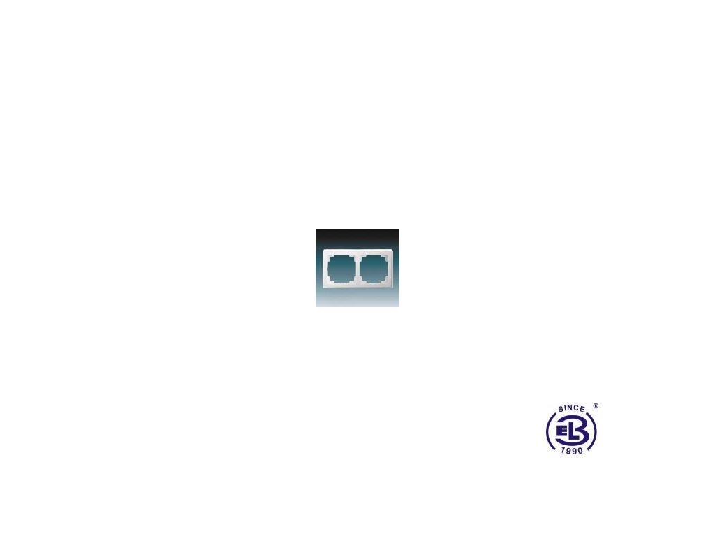 Rámeček pro elektroinstalační přístroje dvojnásobný Swing L, jasně bílý, 3901J-A00020B1 ABB