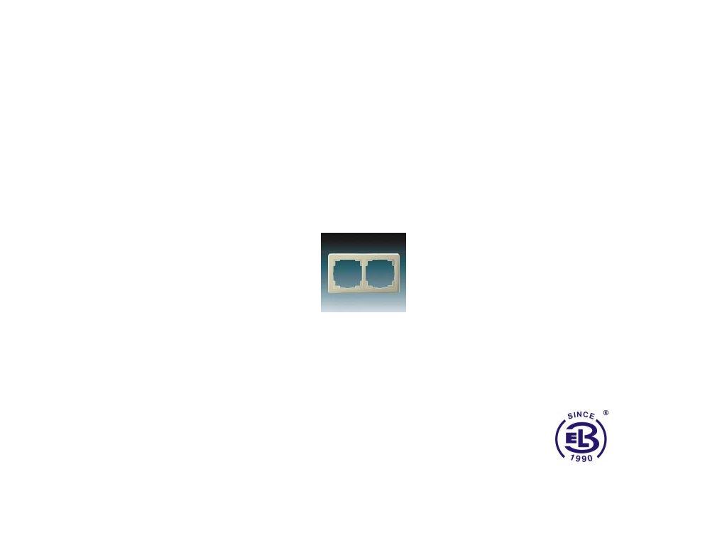 Rámeček pro elektroinstalační přístroje dvojnásobný Swing L, krémový, 3901J-A00020C1 ABB