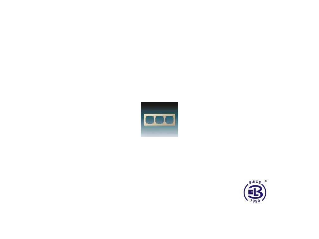 Rámeček pro elektroinstalační přístroje trojnásobný Swing L, béžový, 3901J-A00030D1 ABB
