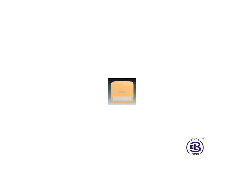 Kryt jednoduchý s popisovým polem, s čirým průzorem Tango, béžová, 3558A-A610D ABB