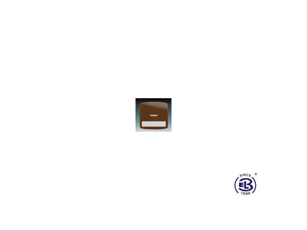 Kryt jednoduchý s popisovým polem, s čirým průzorem Tango, hnědá, 3558A-A610H ABB