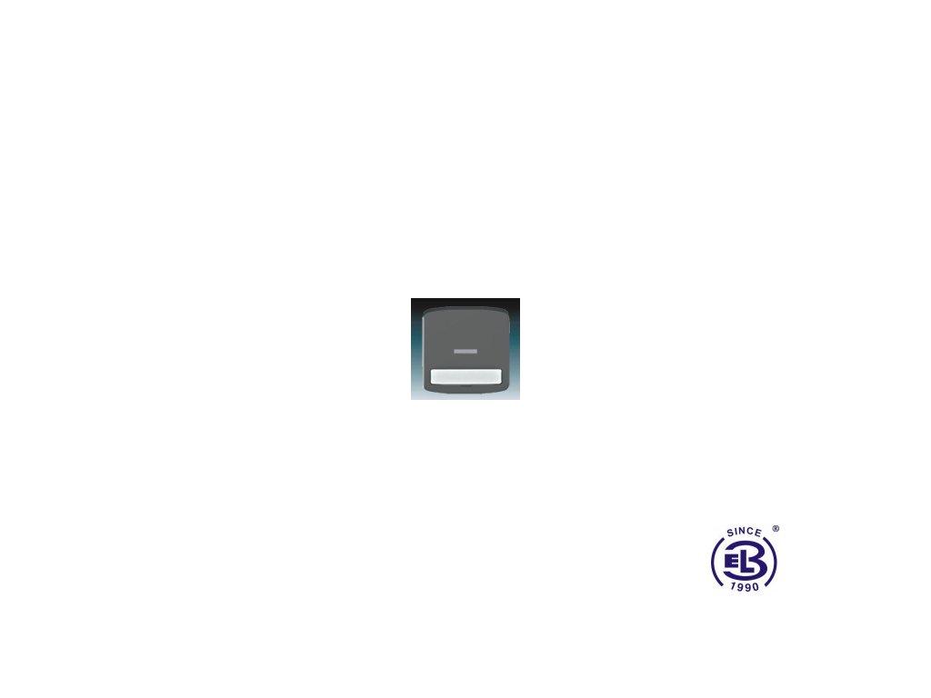 Kryt jednoduchý s popisovým polem, s čirým průzorem Tango, kouřová šedá, 3558A-A610S2 ABB