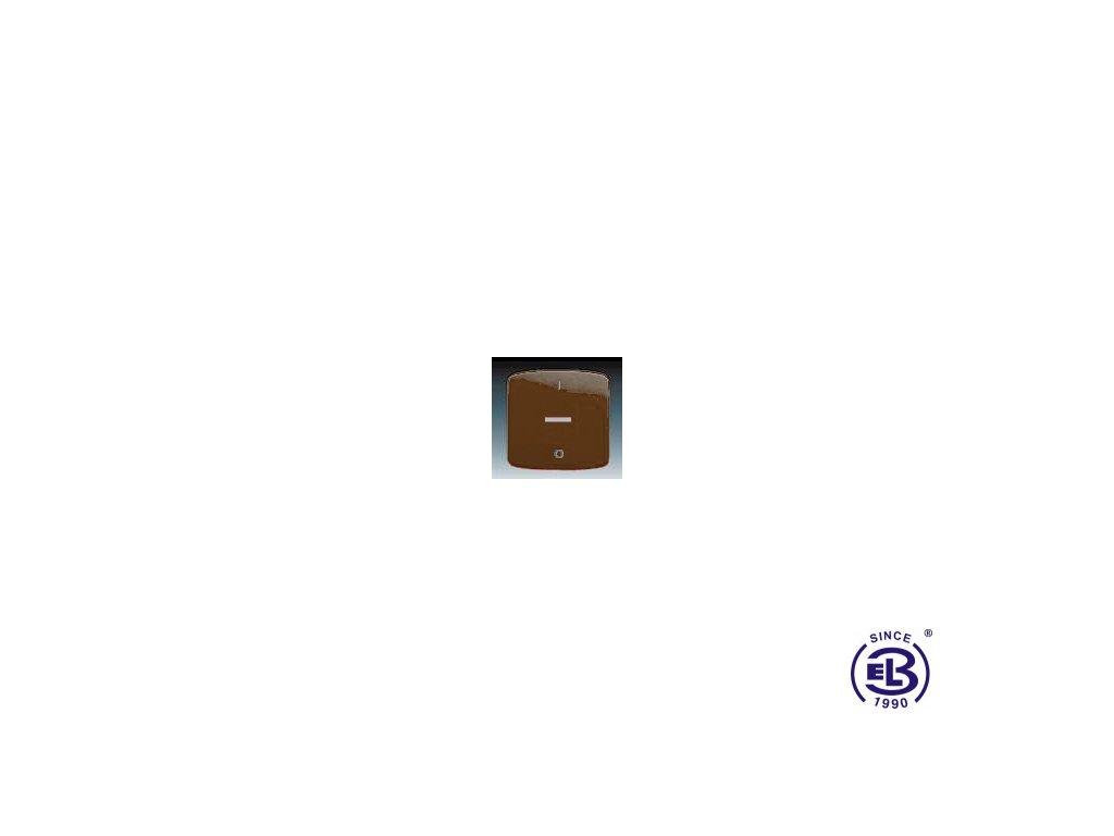 Kryt jednoduchý s potiskem, s čirým průzorem Tango, hnědá, 3558A-A655H ABB