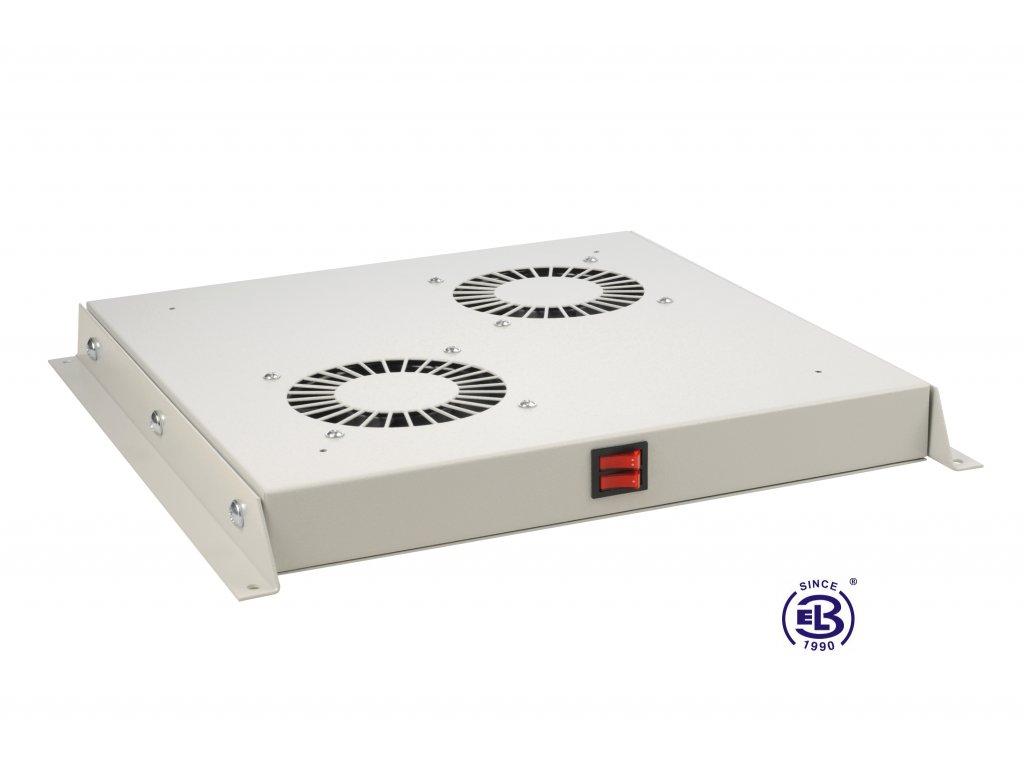Ventilační jednotka bez termostatu, 2 ventilátory, univerzální, šedá