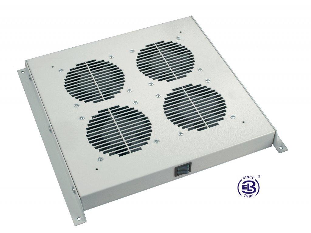 Ventilační jednotka bez termostatu, 4 ventilátory, univerzální, šedá