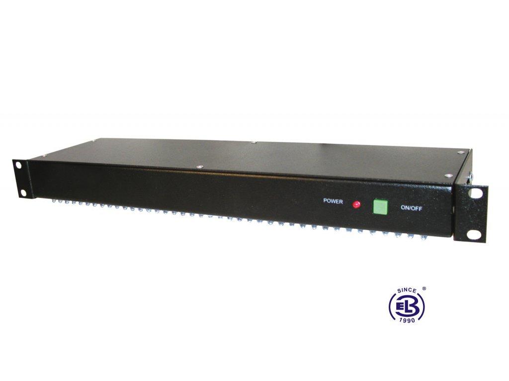 Osvětlovací jednotka diodová, výška 1U, černá
