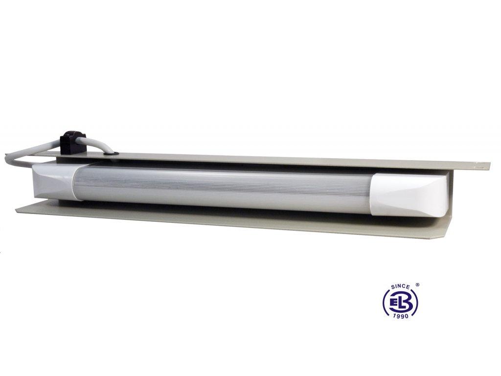 Osvětlovací jednotka zářivková, výška 1U, černá