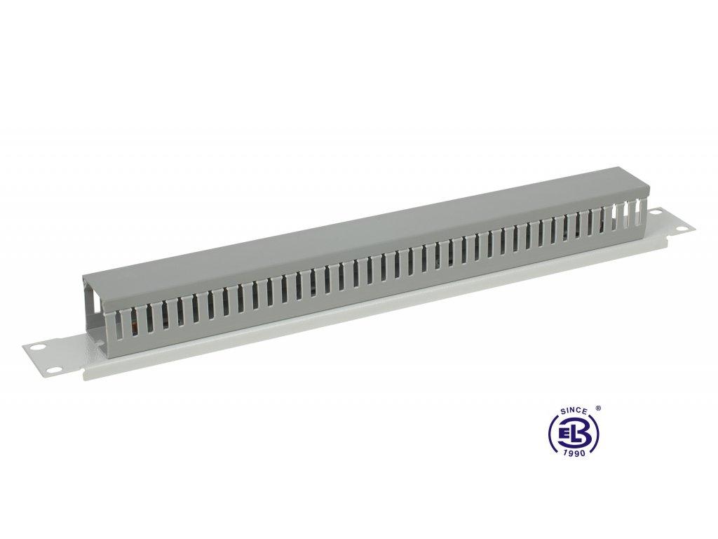 Vyvazovací panel s plastovou mřížkou, 1U, šedý