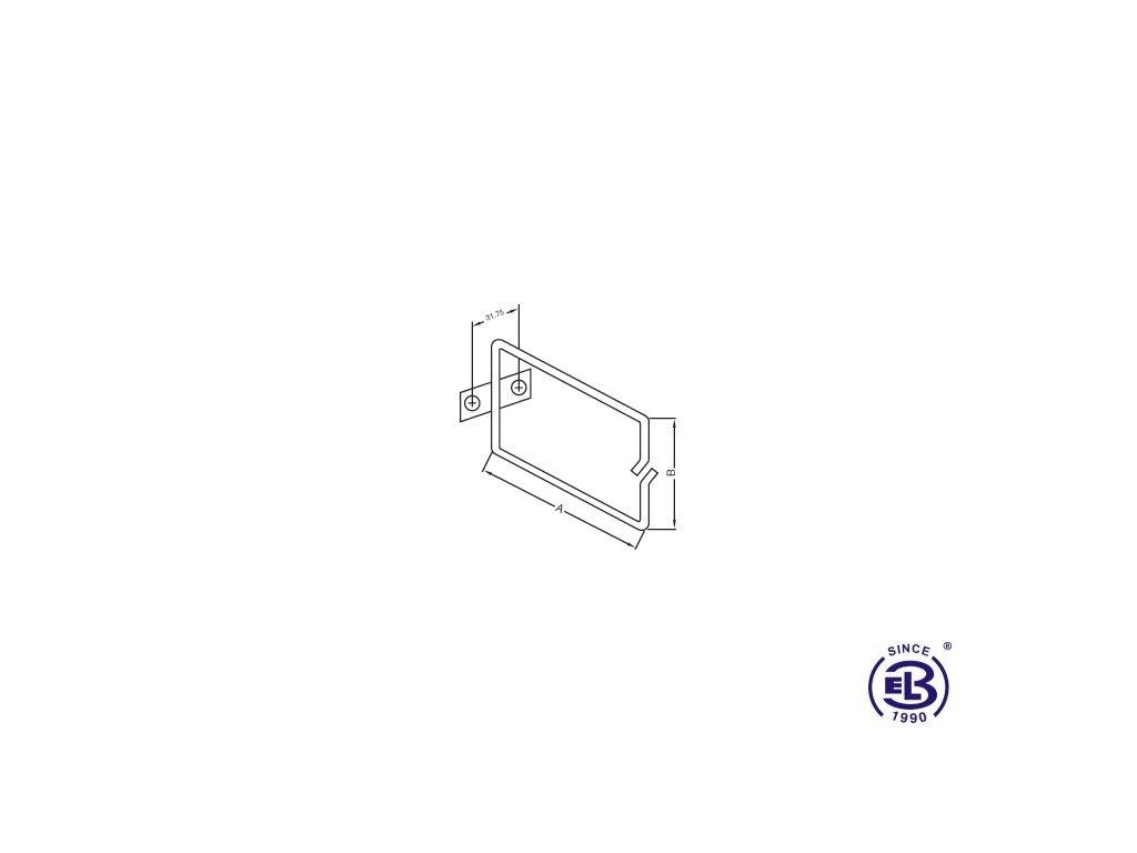 Vyvazovací háček kovový 80x80 EPCM2-8/8