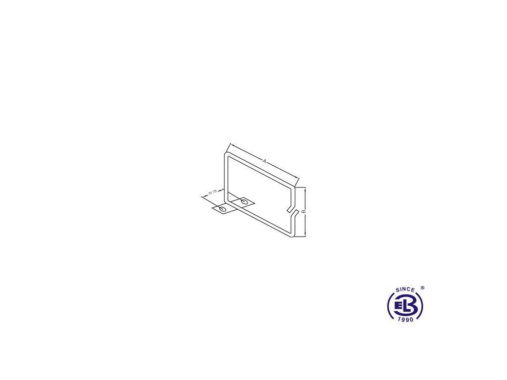 Vyvazovací háček kovový 40x40 EPCM3-4/4