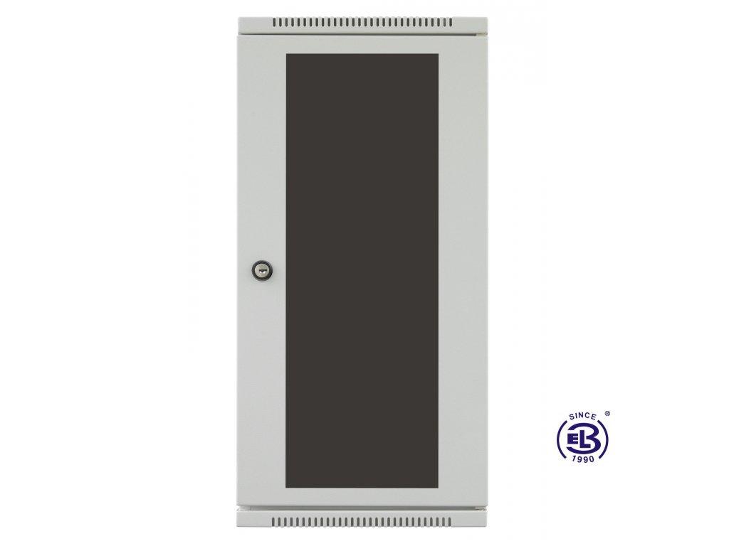"""Rozvaděč nástěnný 10"""", LC-10, 4U, 300x265, šedý, skleněné dveře"""