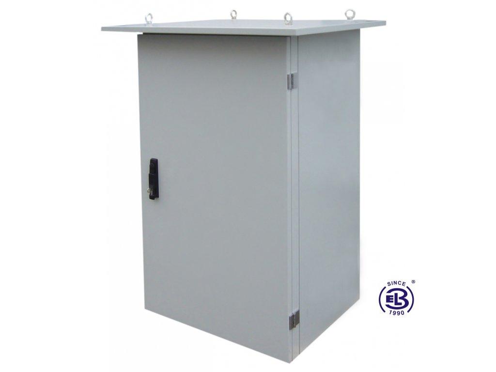 Rozvaděč termoizolovaný LC-07+, 24U, 700x600, šedý, bez ventilační jednotky