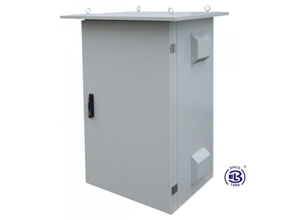 Rozvaděč termoizolovaný LC-07+, 24U, 700x600, šedý, ventilační jednotka na pravé straně