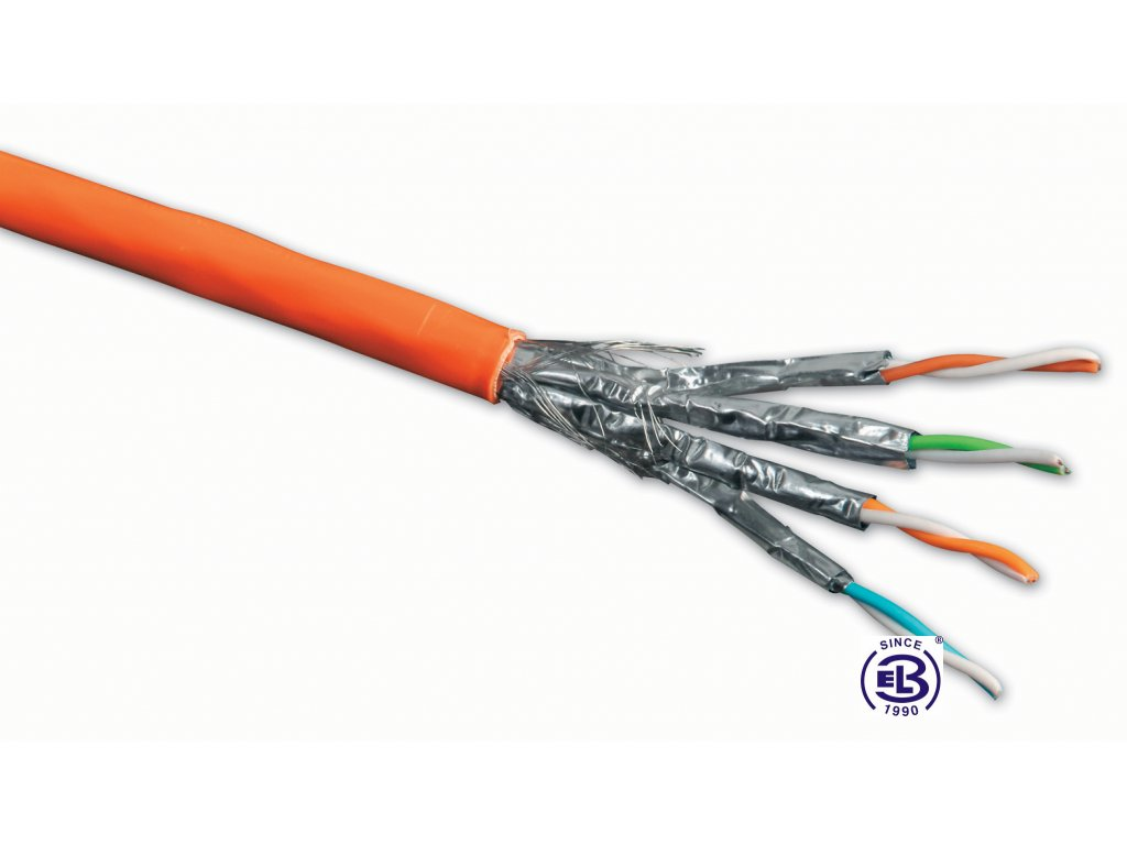Kabel datový Cat 7A SSTP LSOH 1200MHz balení 500m SOLARIX