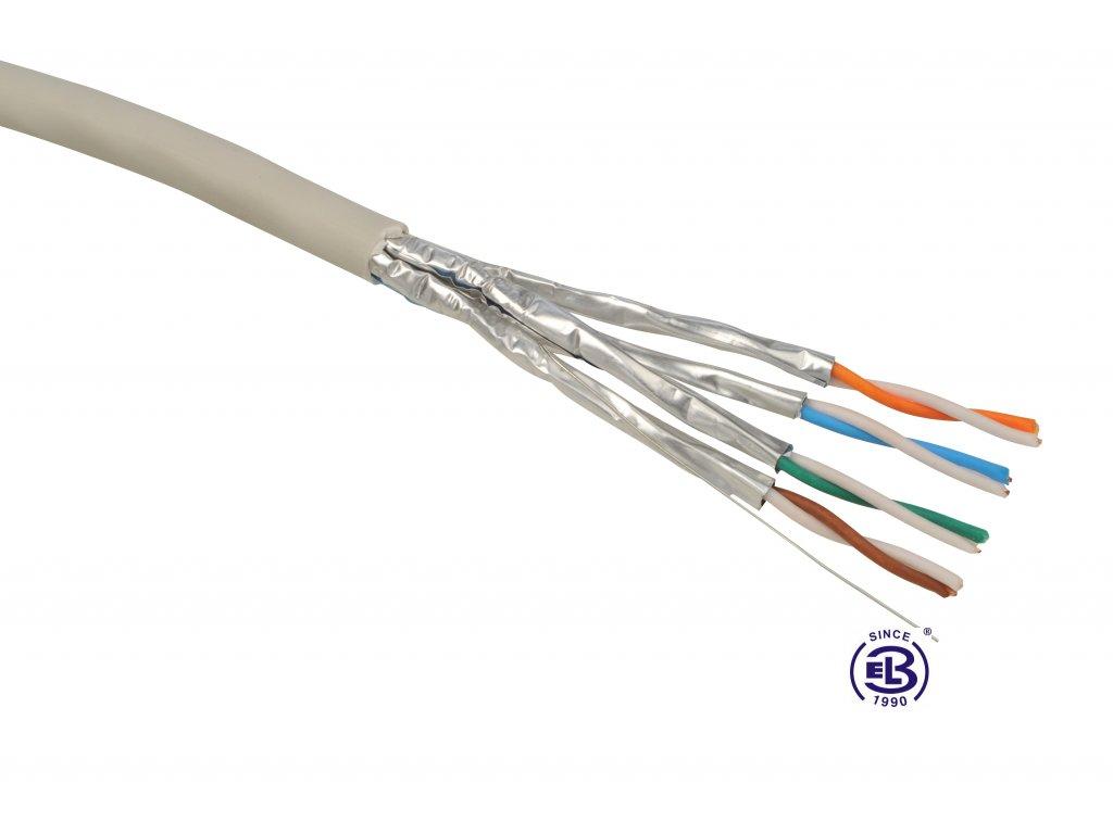 Kabel datový Cat 6A STP (FTP) LSOH balení 500m SOLARIX