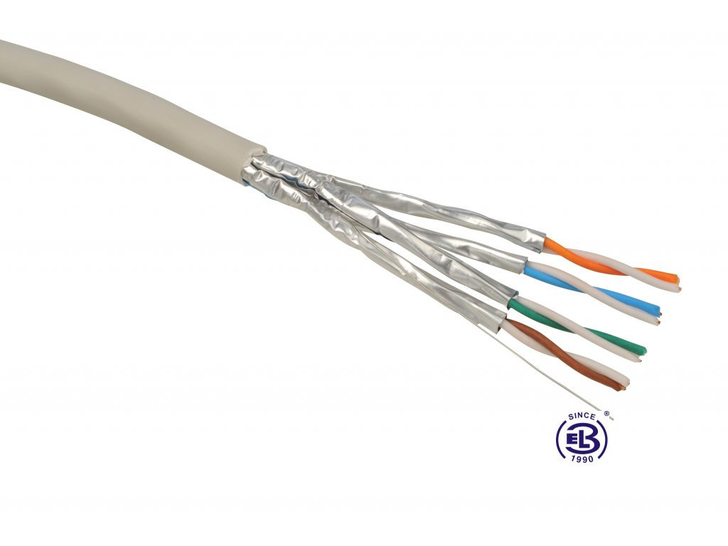 Kabel datový Cat 6A STP (FTP) LSOH SOLARIX / metráž