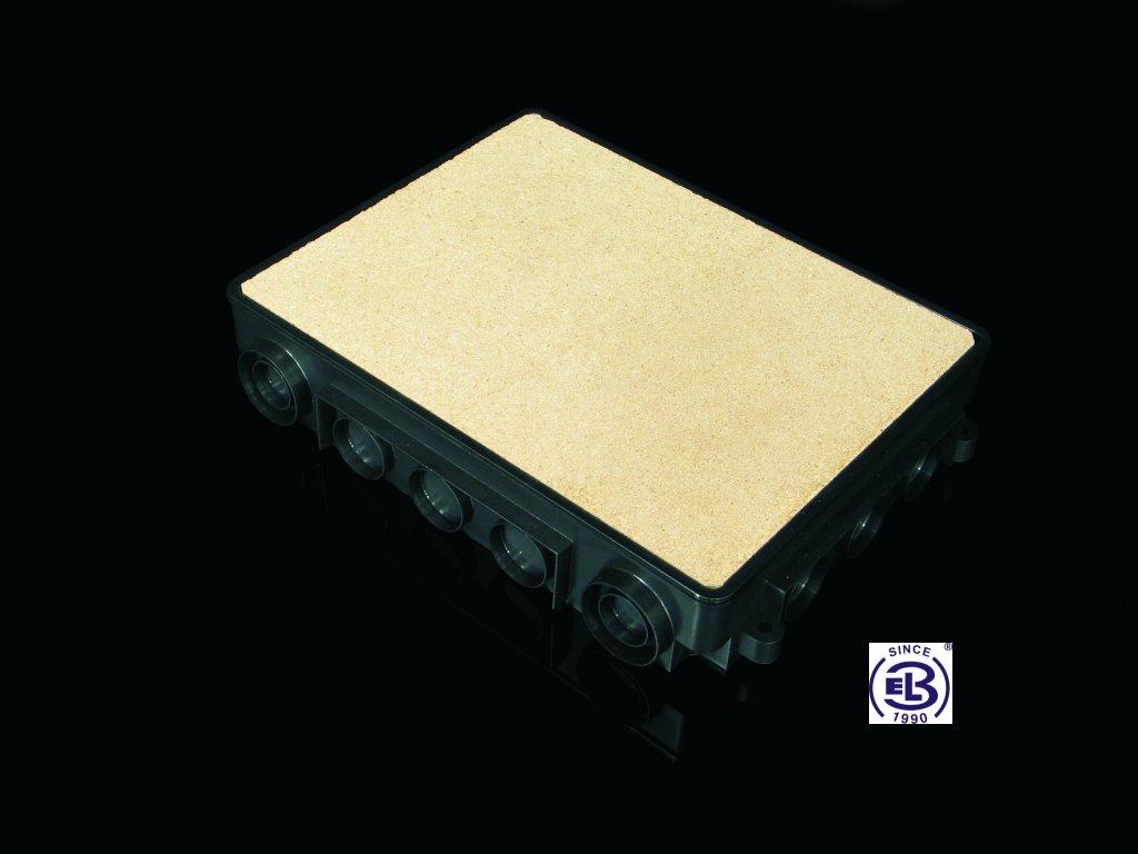 Krabice univerzální podlahová 332x250x57, KUP 57 KOPOS