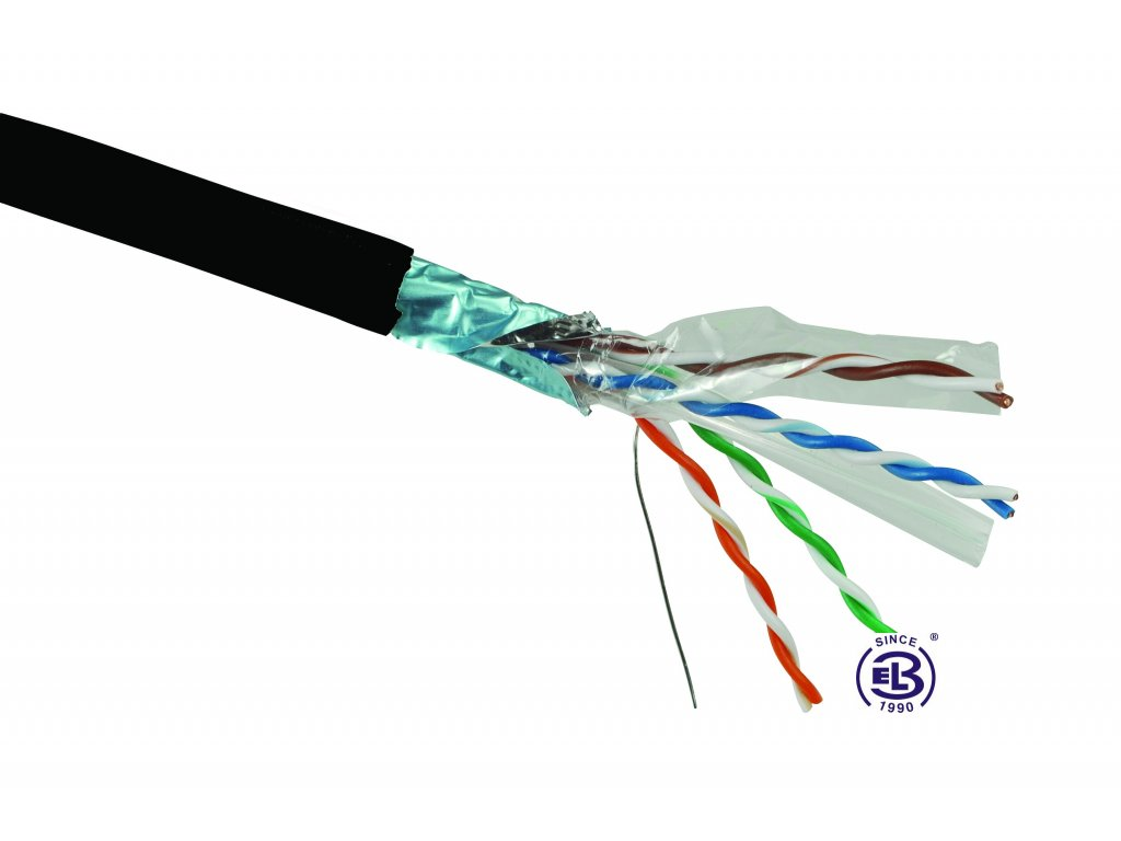 Kabel datový Cat 6 FTP PE balení 500m SOLARIX