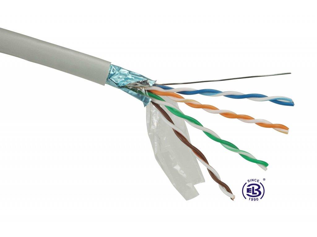 Kabel datový Cat 5E FTP PVC balení 305m SOLARIX