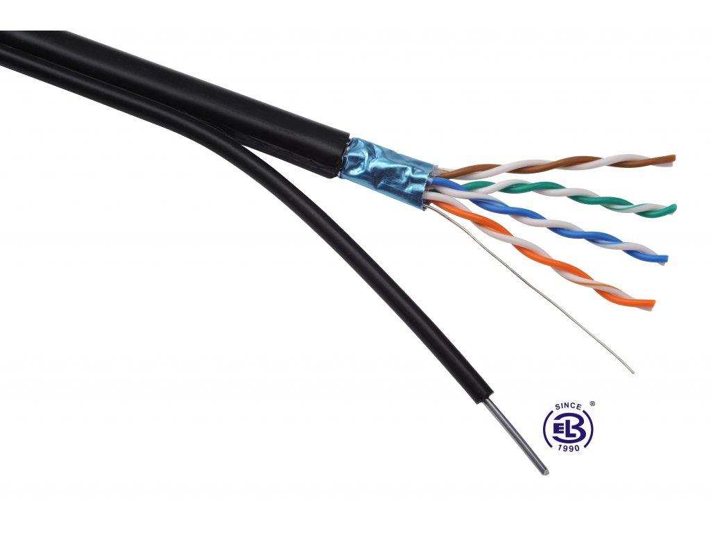 Kabel datový Cat 5E FTP PE, venkovní, samonosný  SOLARIX / metráž