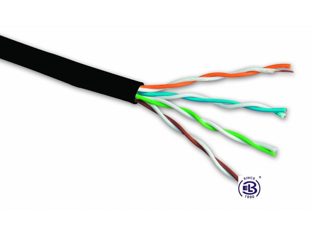 Kabel datový Cat 5E UTP PE venkovní SOLARIX /metráž