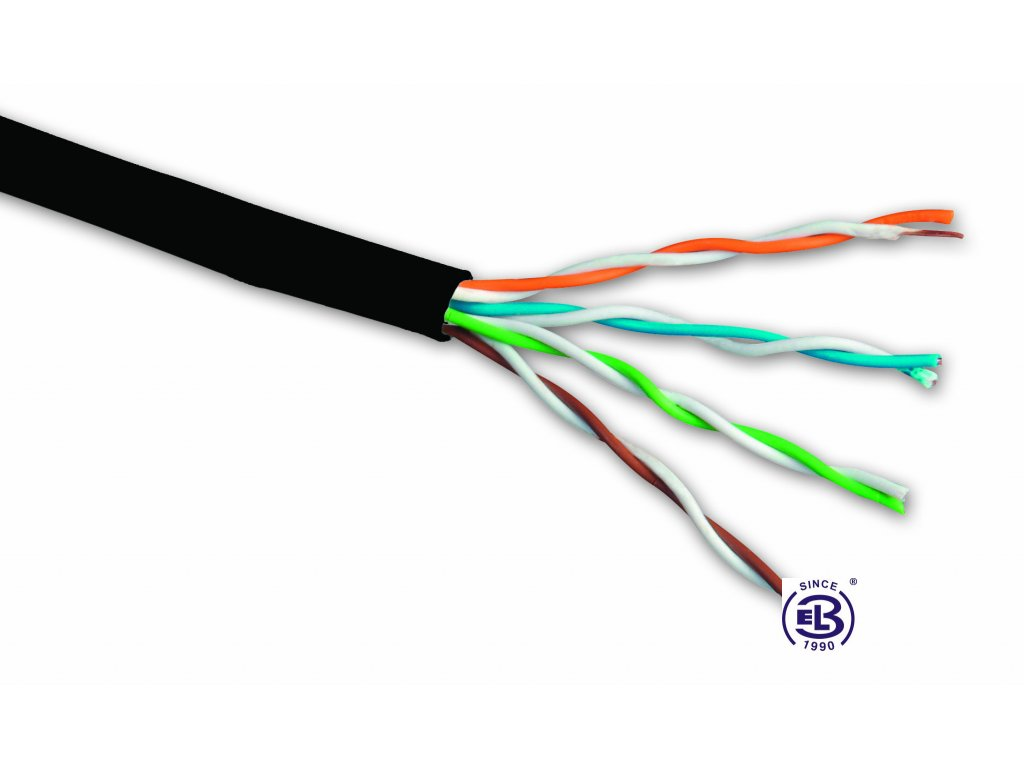 Kabel datový Cat 5E UTP PE venkovní balení 305m SOLARIX